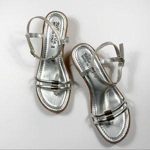 Bella Vita Silver Sandal Size 8